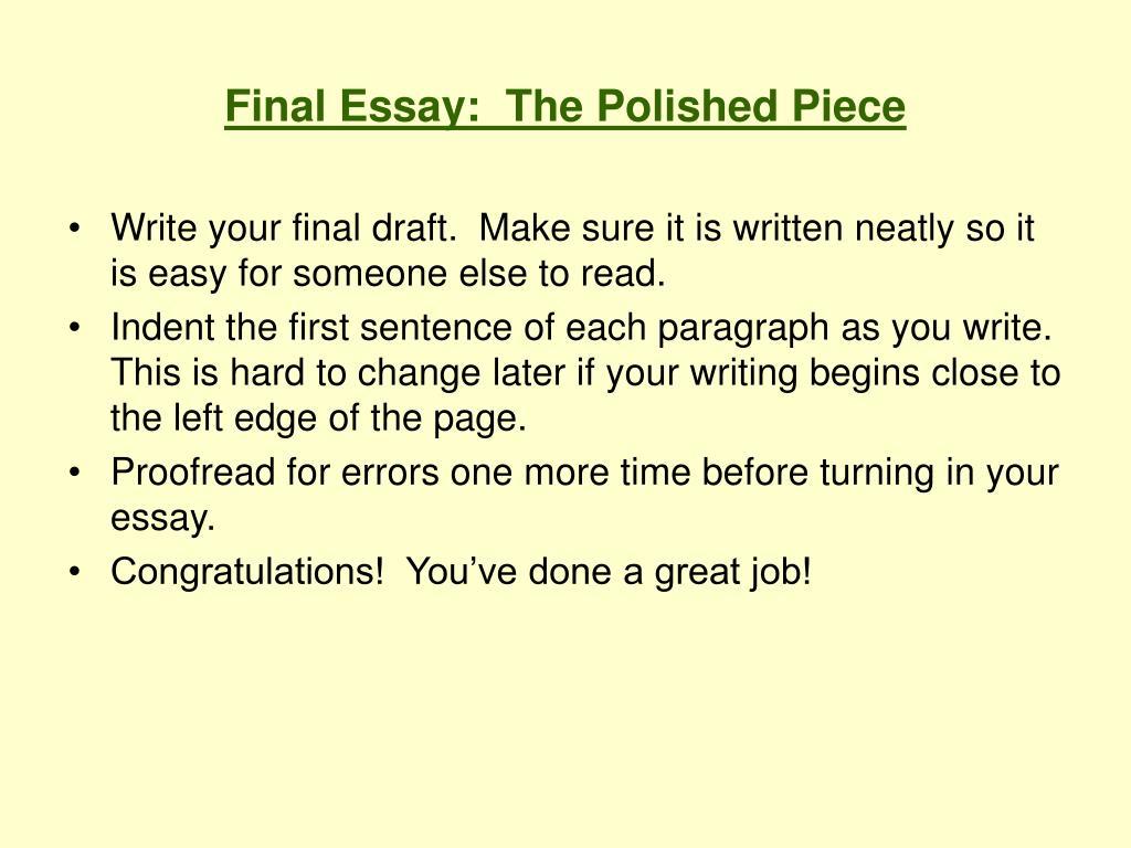 congrats essay