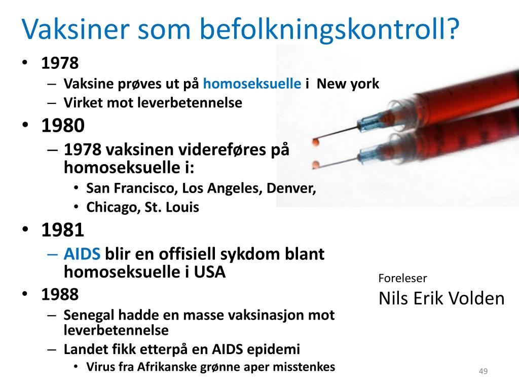 Vaksiner som befolkningskontroll?