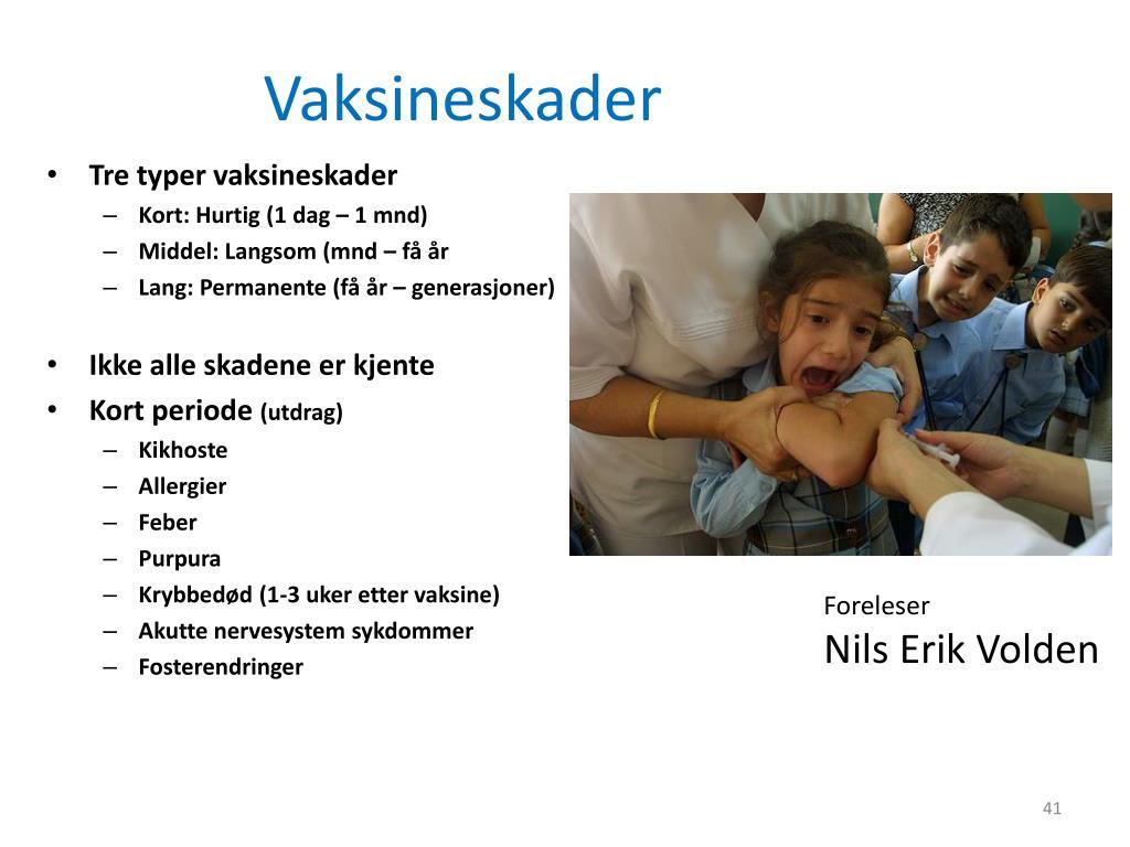 Vaksineskader