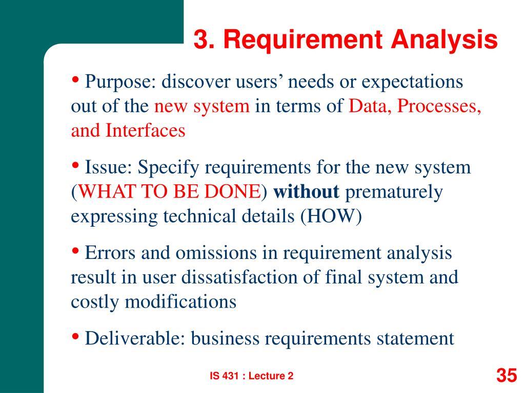 3. Requirement Analysis