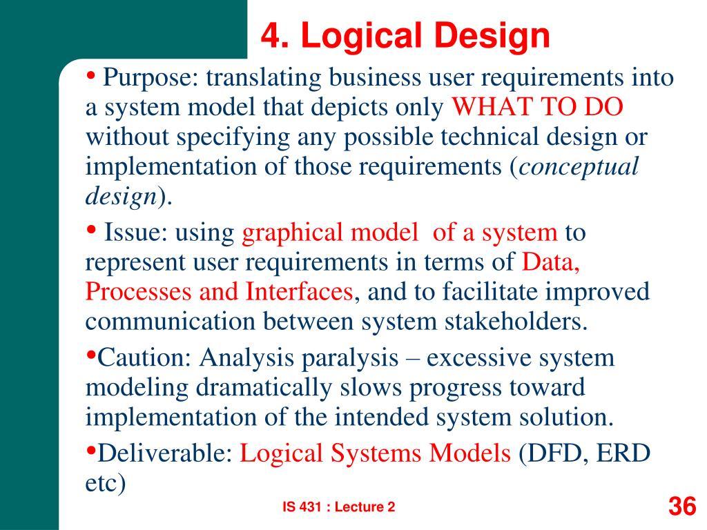 4. Logical Design