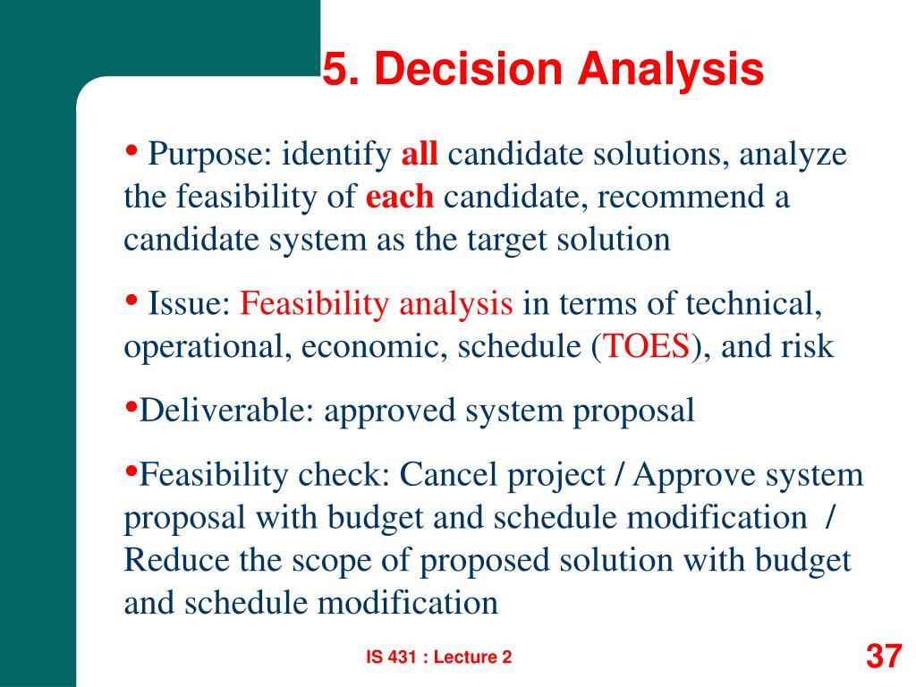 5. Decision Analysis