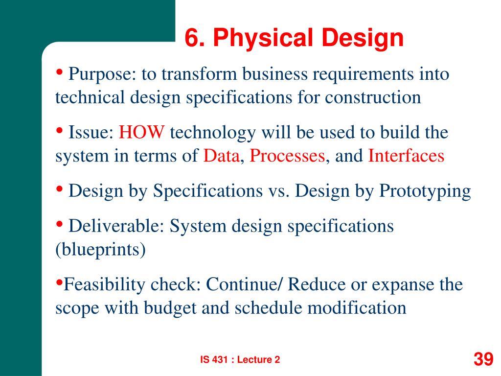 6. Physical Design