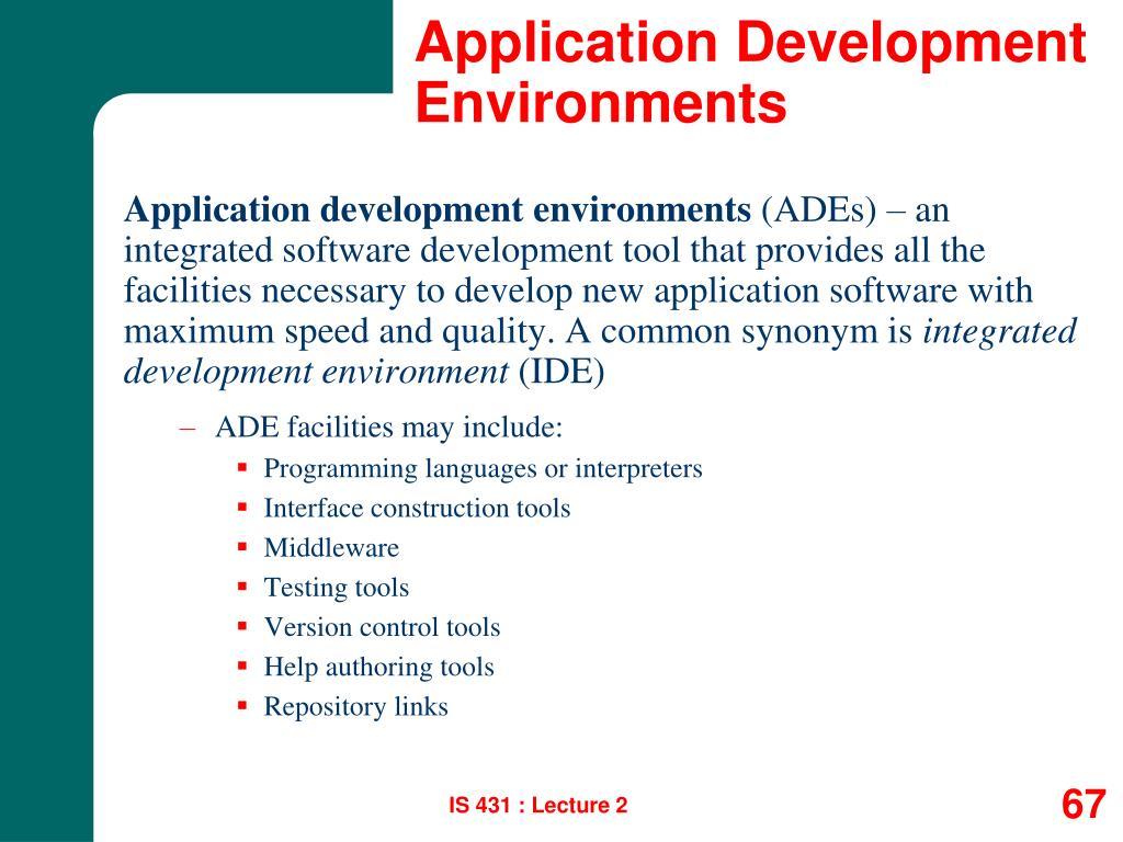 Application Development Environments