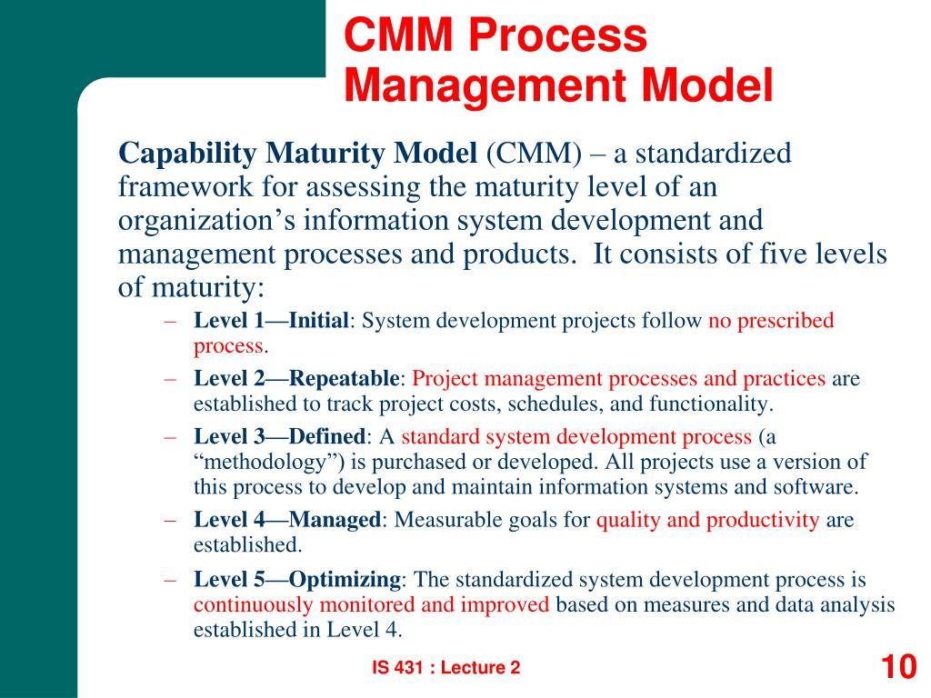 CMM Process Management Model