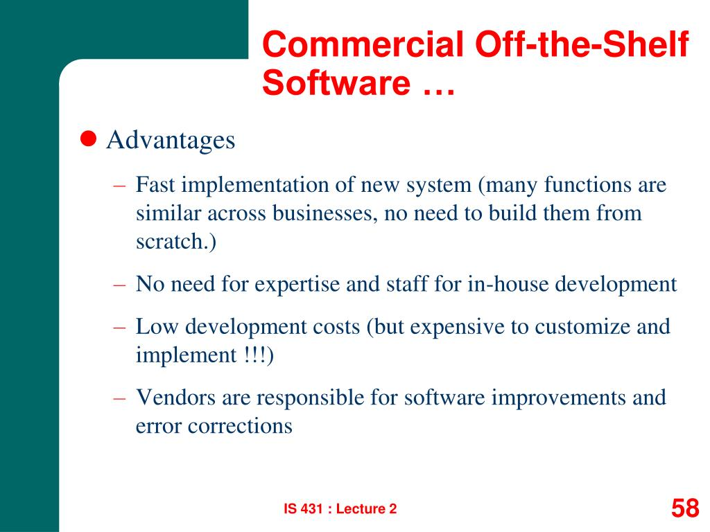 Commercial Off-the-Shelf Software …