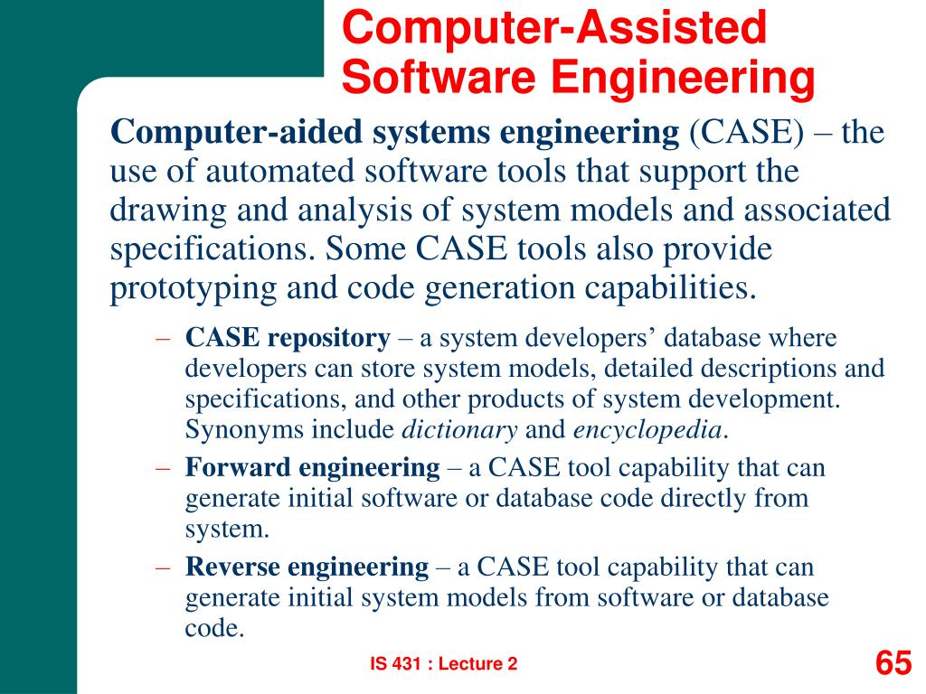Computer-Assisted Software Engineering