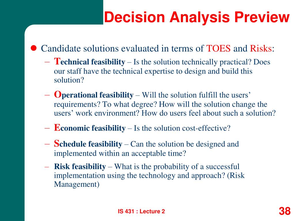 Decision Analysis Preview