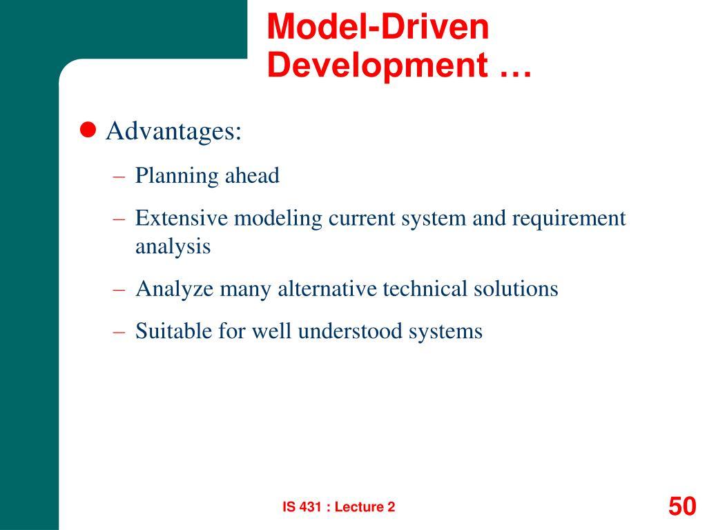 Model-Driven Development …