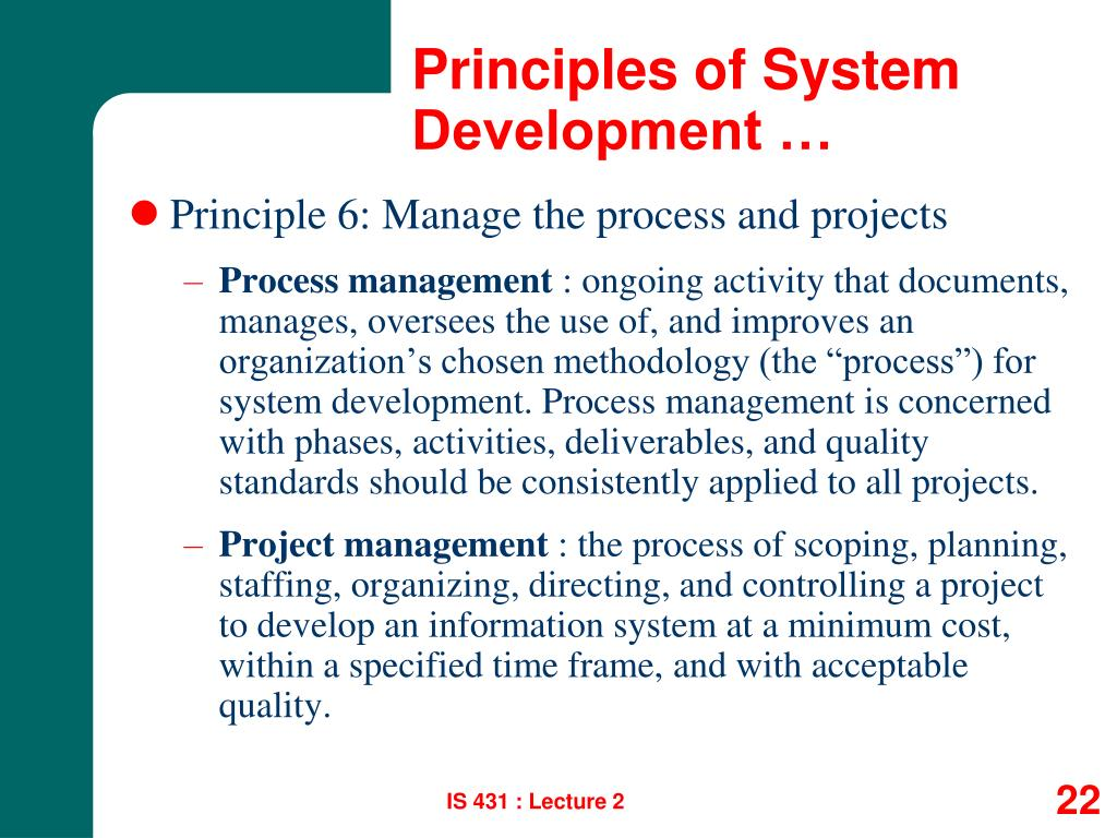 Principles of System Development …