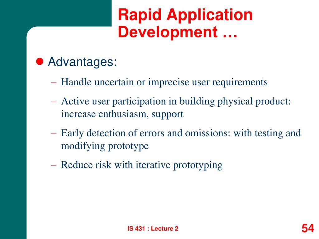 Rapid Application Development …