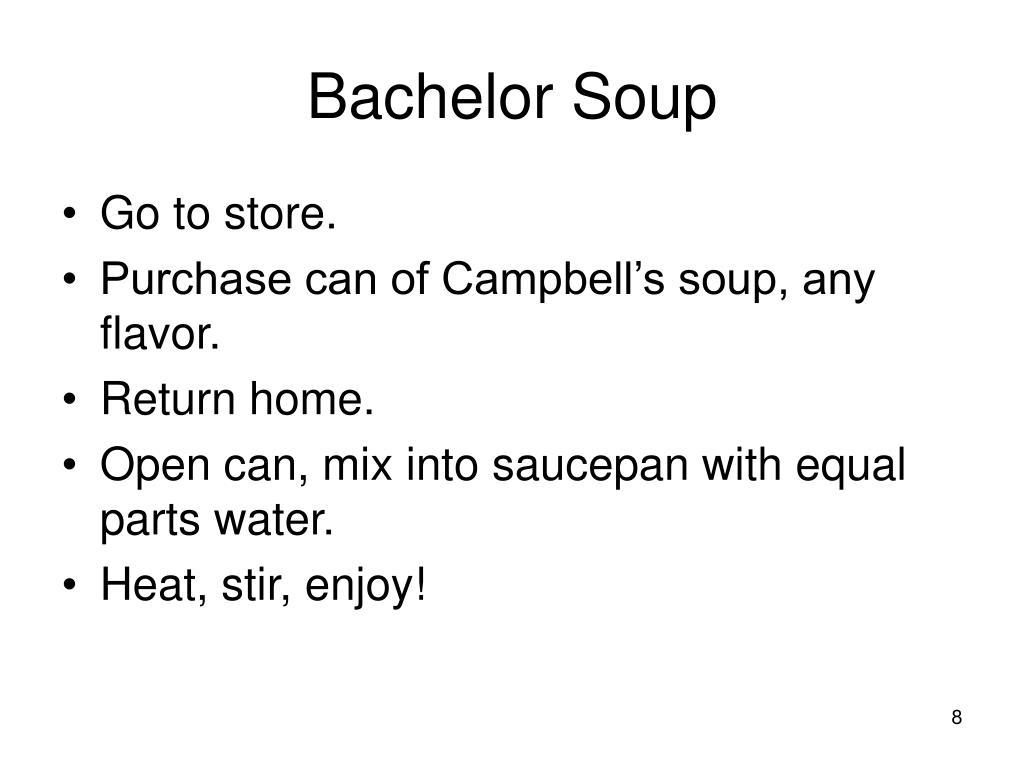 Bachelor Soup