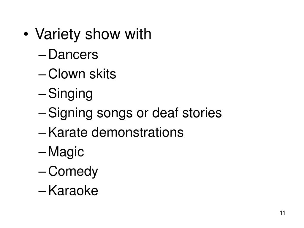 Variety show with