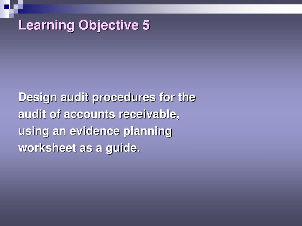 accounts receivable and acceptable audit risk essay A wide variety of sample audit reports are available on knowledgeleader these audit  this audit report reviews the accounts receivable,  the audit risk.