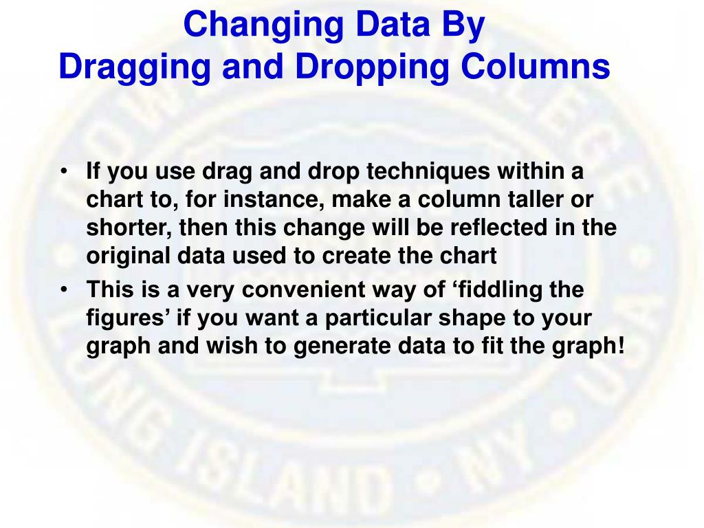 Changing Data By