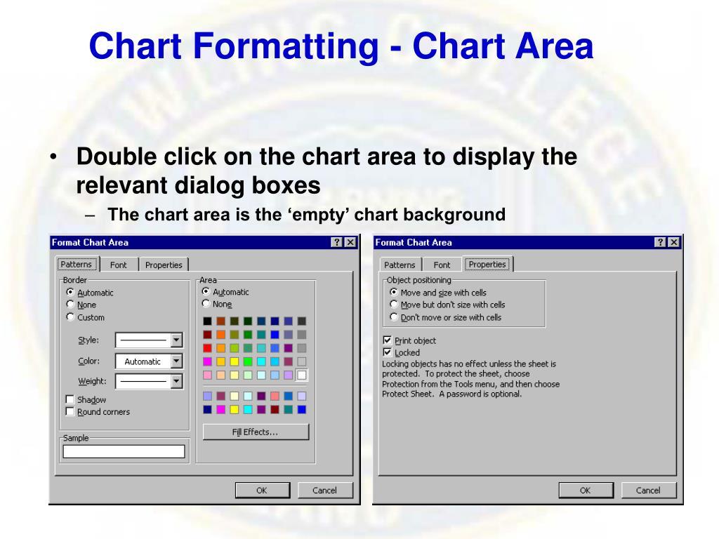Chart Formatting - Chart Area