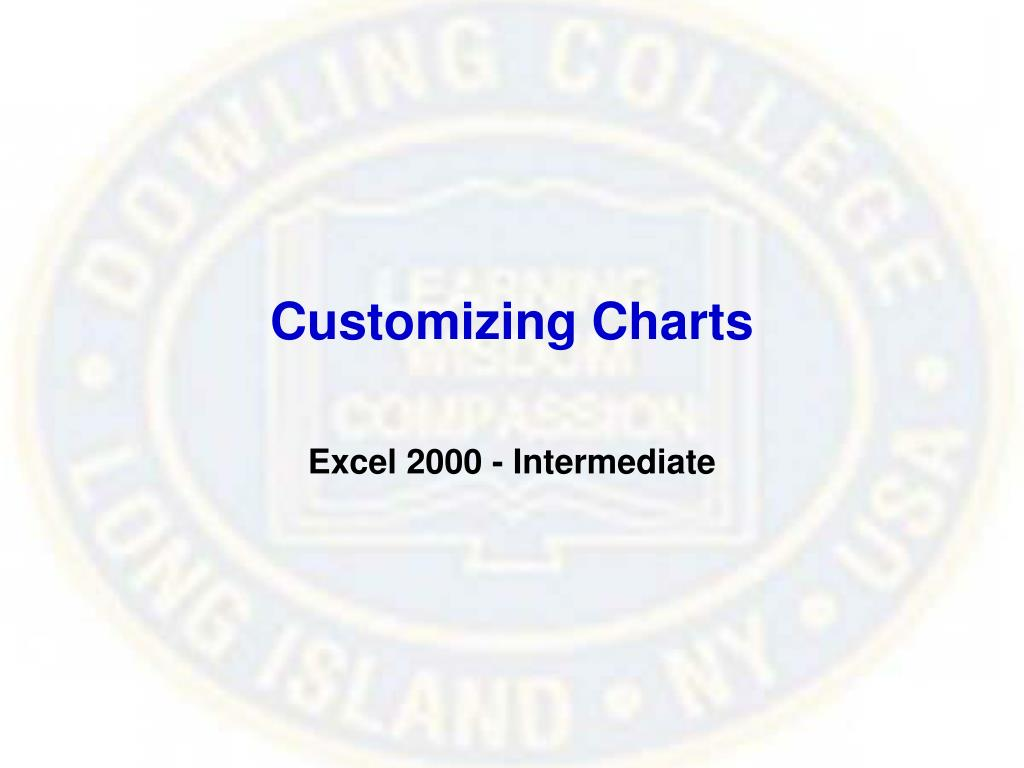 Customizing Charts