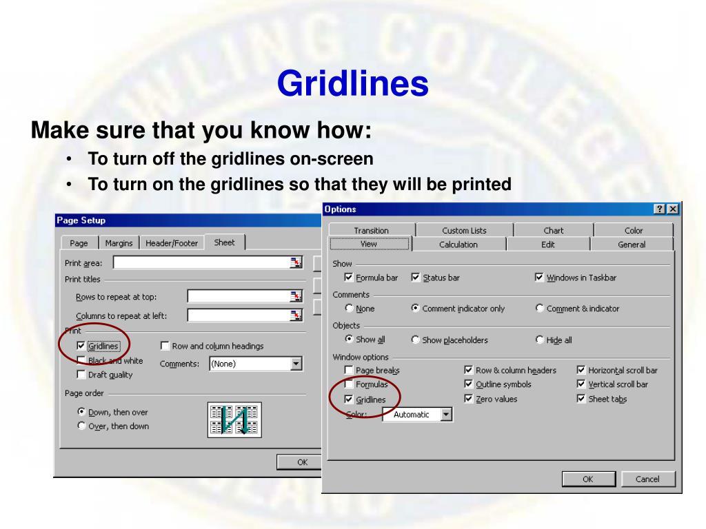 Gridlines