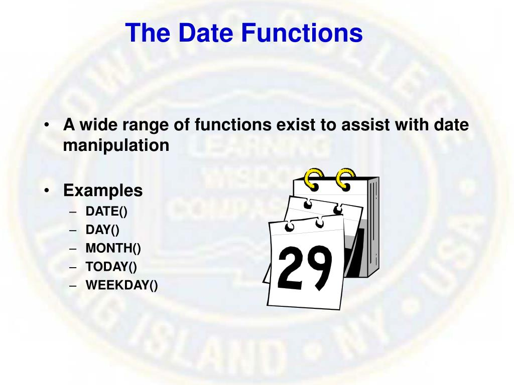 The Date Functions