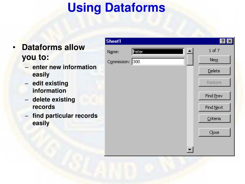 Using Dataforms