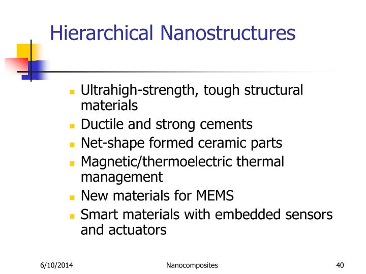 Hierarchical Nanostructures