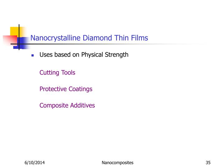 Nanocrystalline Diamond Thin Films