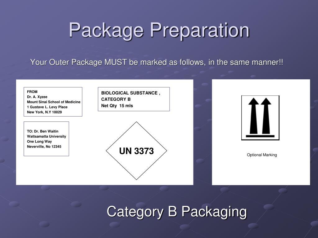 Package Preparation