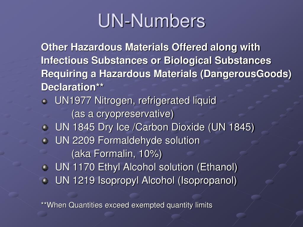 UN-Numbers
