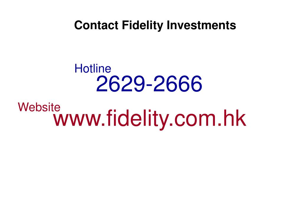 Contact Fidelity Investments