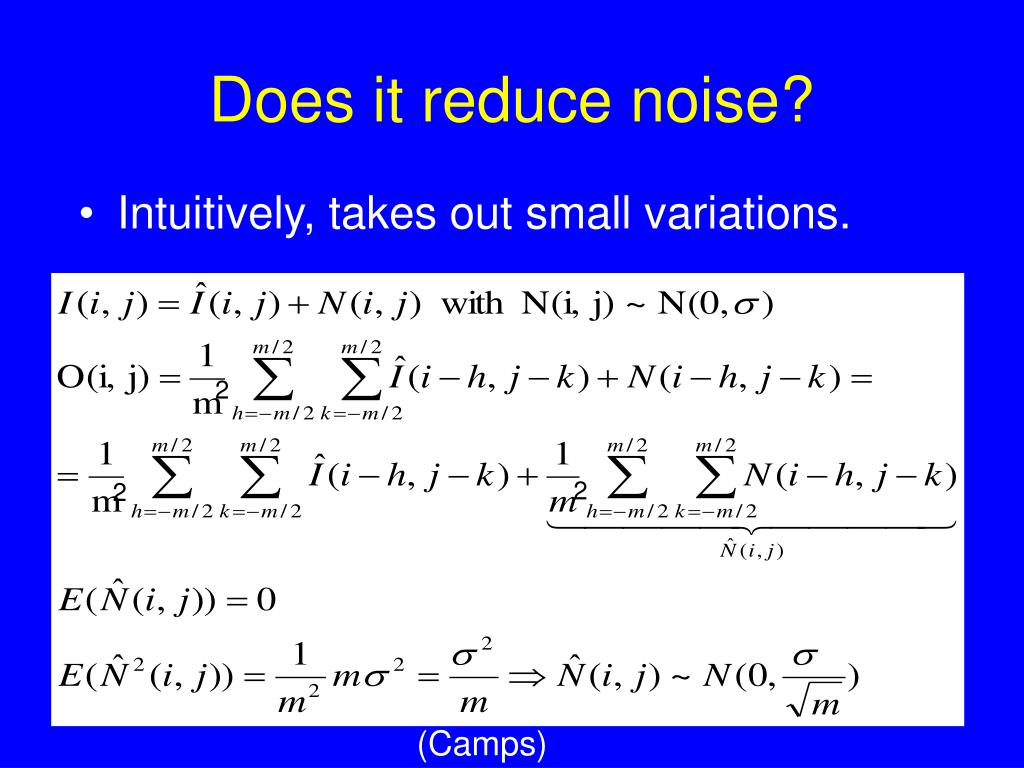 Does it reduce noise?
