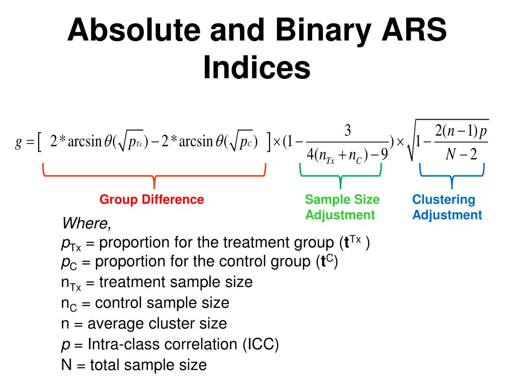 Absolute and Binary ARS Indices