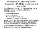 an example of core components bransford s hpl model of learning and instruction