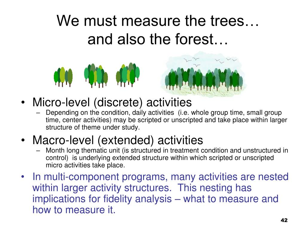 We must measure the trees…