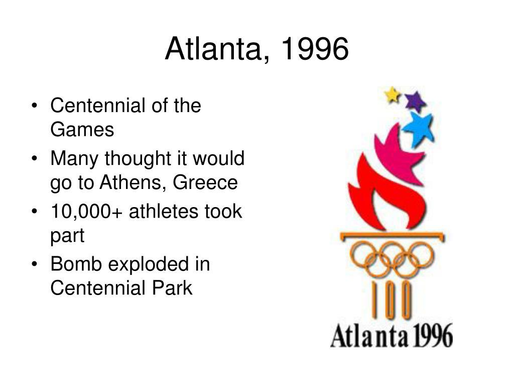 Atlanta, 1996
