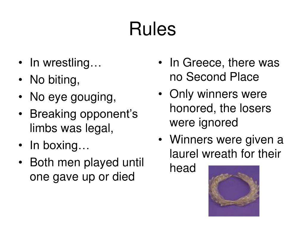 In wrestling…