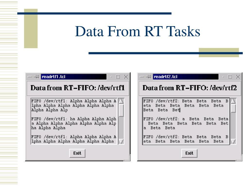 Data From RT Tasks
