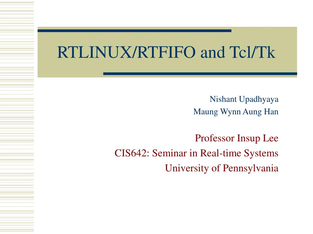 RTLINUX/RTFIFO and Tcl/Tk