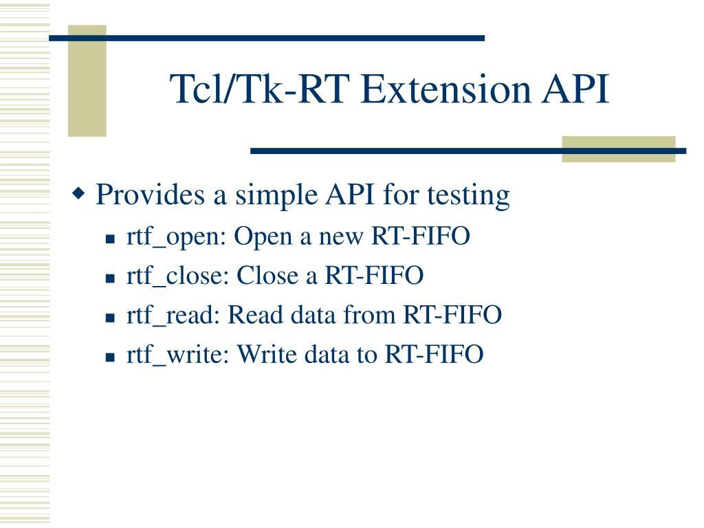 Tcl/Tk-RT Extension API