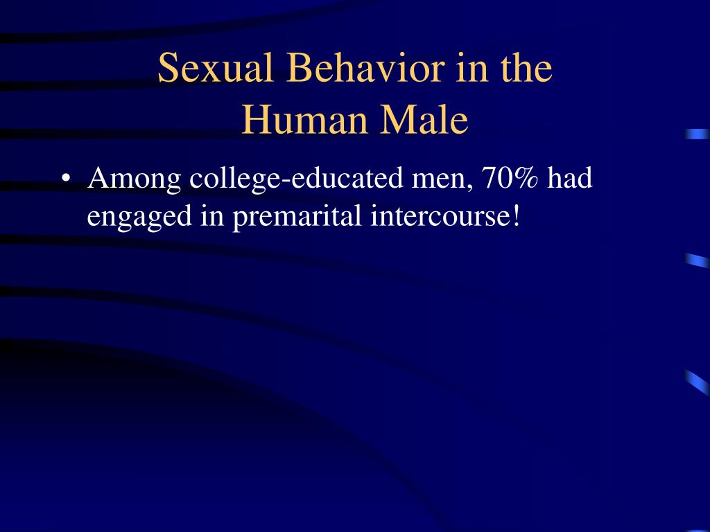 Sexual Behavior in the