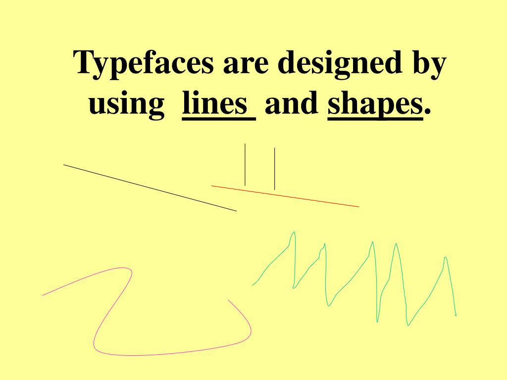 Typefaces are designed by using