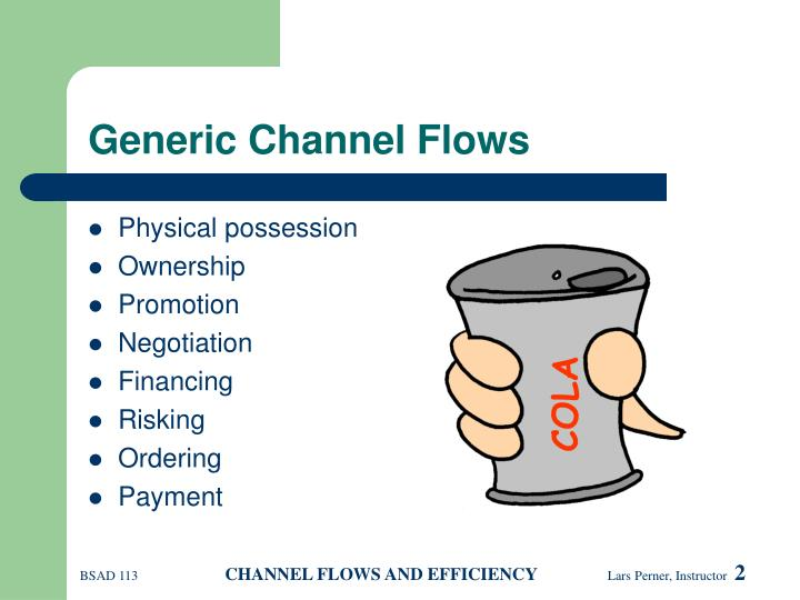 Generic channel flows