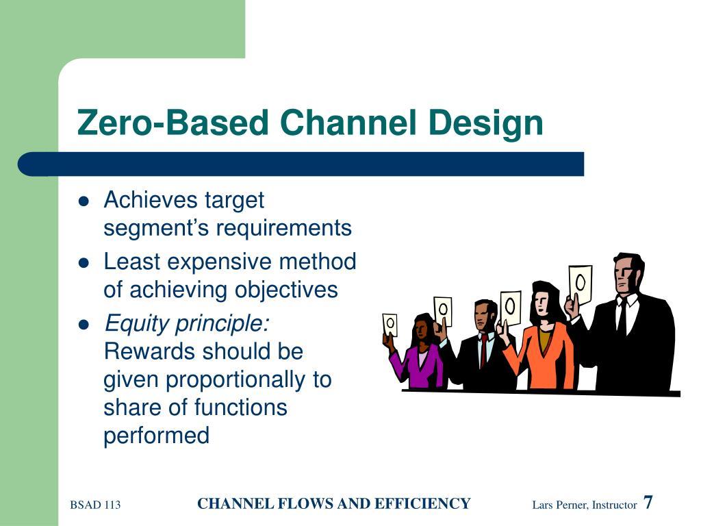 Zero-Based Channel Design