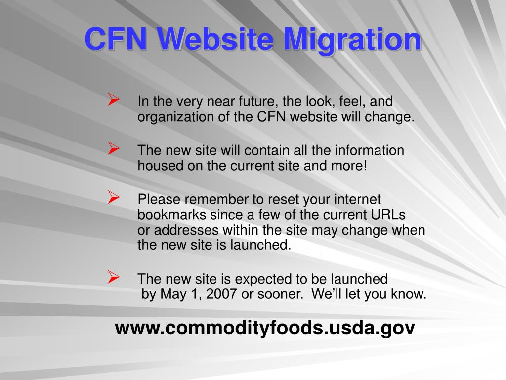 CFN Website Migration