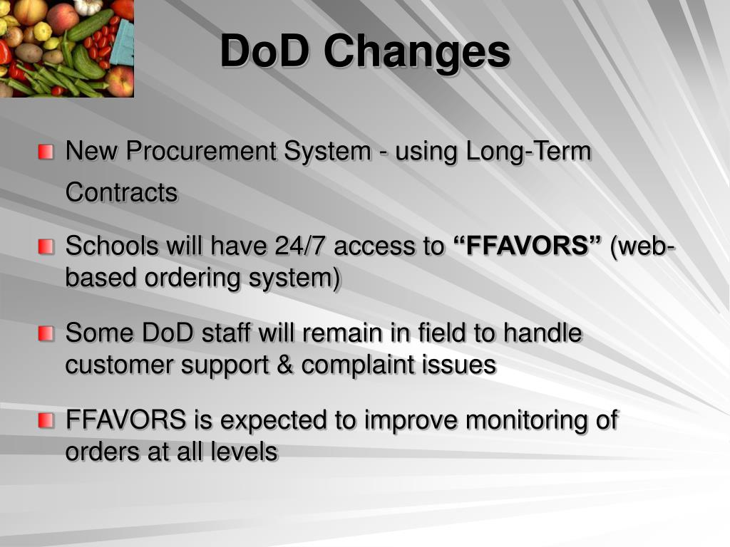 DoD Changes