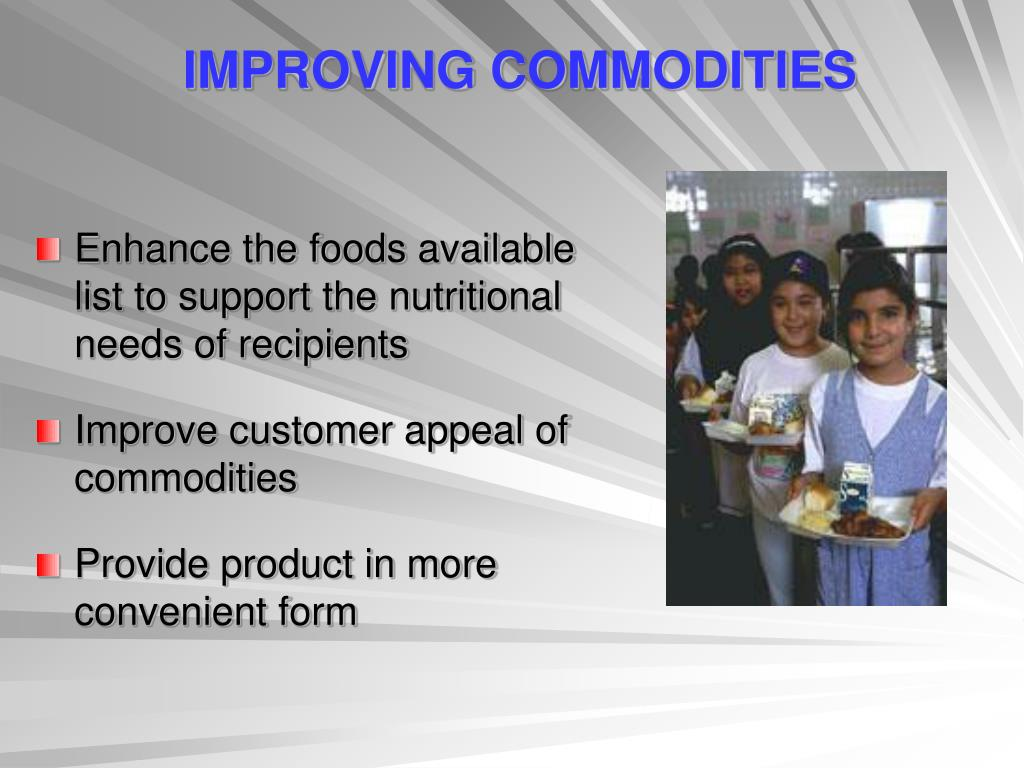 IMPROVING COMMODITIES