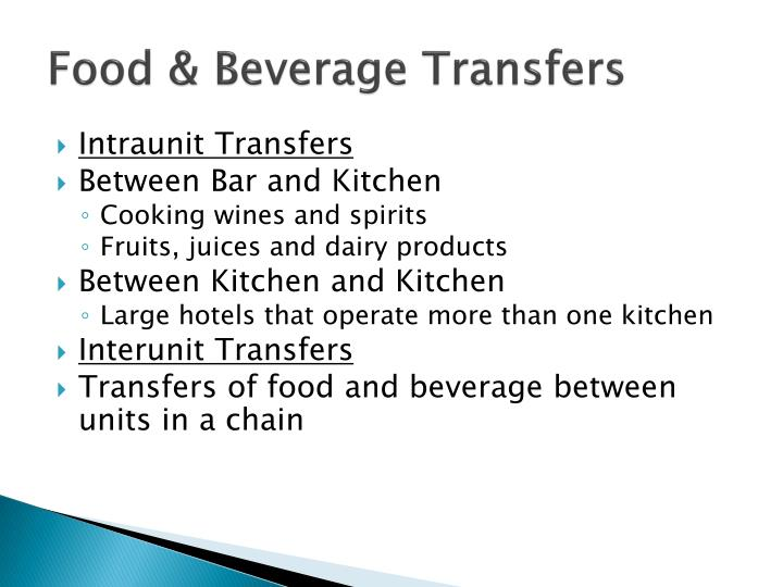Food & Beverage Transfers