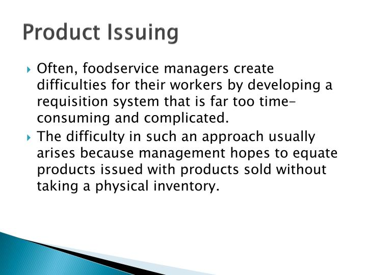 Product Issuing