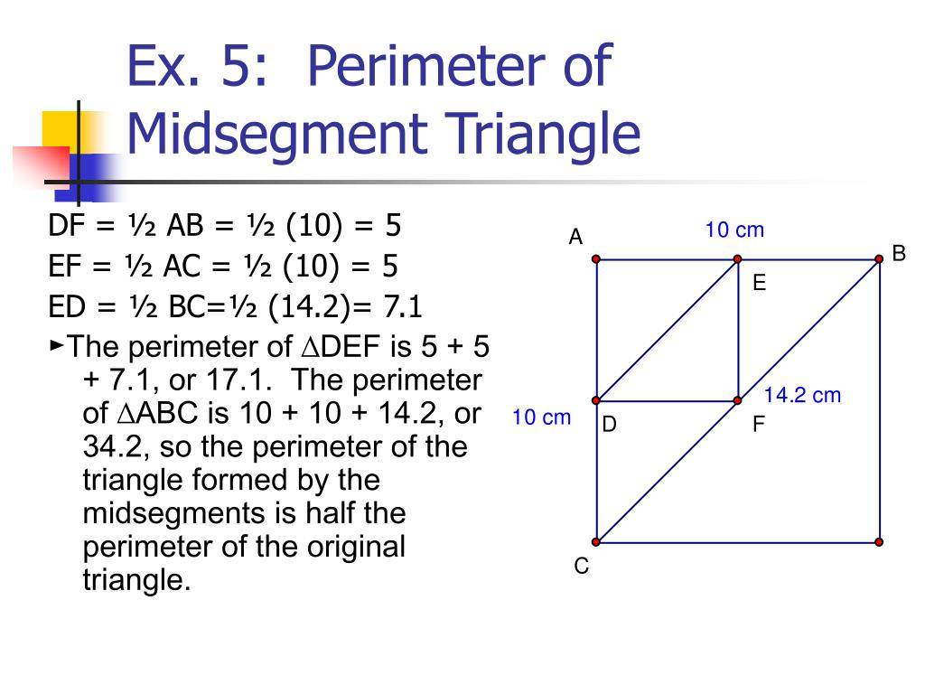 Worksheet Midsegment Of A Triangle Worksheet Worksheet Fun