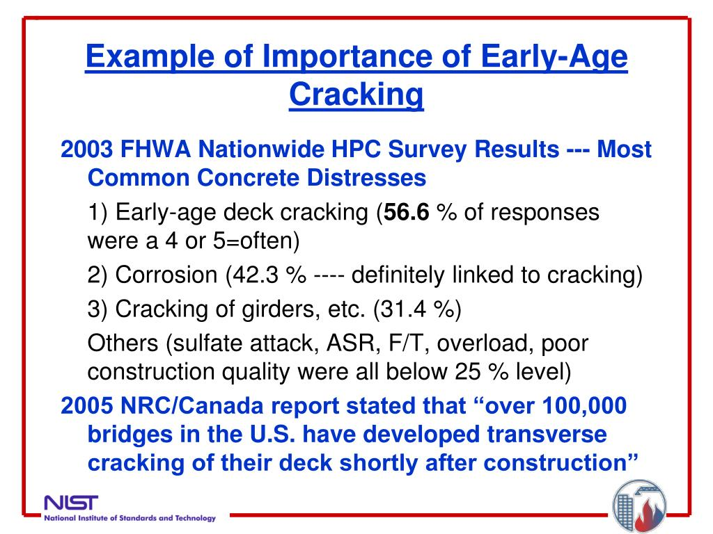Example of Importance of Early-Age Cracking
