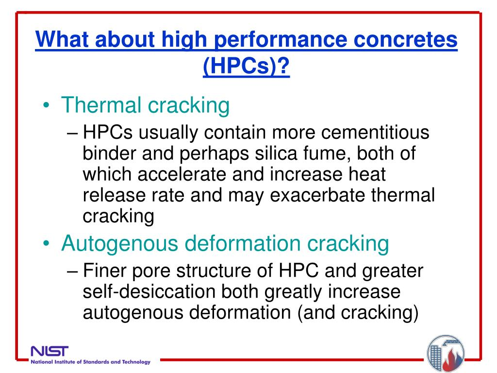 What about high performance concretes (HPCs)?